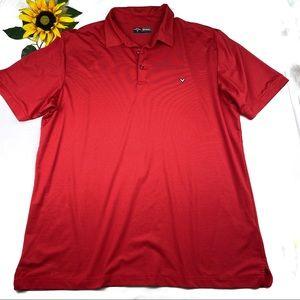 Callaway Golf Opti-Dri Short Striped Polo Shirt